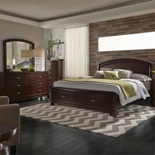 King California Panel Storage Bed, Dresser & Mirror, Chest