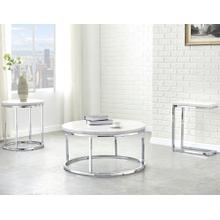 Echo 3-Piece Marble Top Set (Cocktail & 2 End Tables)
