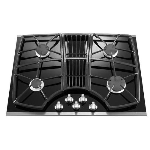 KitchenAid® 30-Inch 4 Burner Downdraft Gas Cooktop, Architect® Series II - Stainless Steel