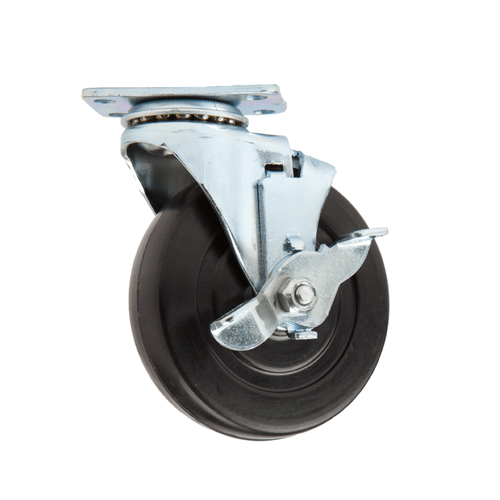 "Locking Caster 3"" Dia Wheel, Swivel, 3.5"" Tal"