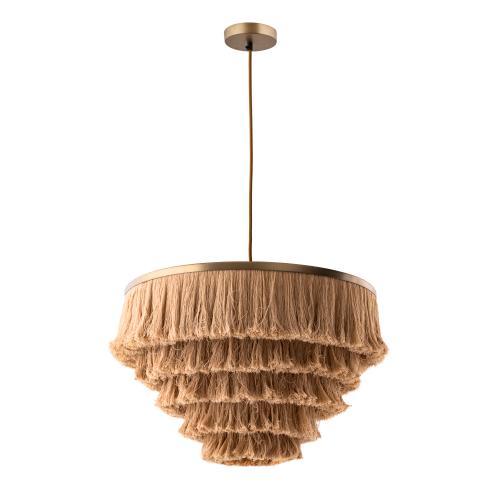 Tov Furniture - Sarai Natural Fringe Pendant