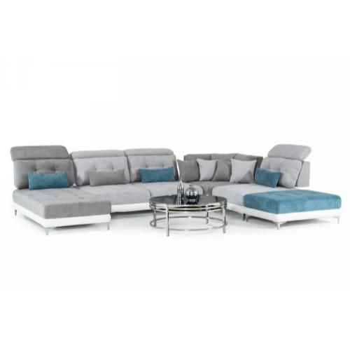 David Ferrari Jive - Italian Modern Medium Grey Fabric Configurable Sectional Sofa
