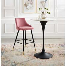Adorn Performance Velvet Bar Stool in Dusty Rose