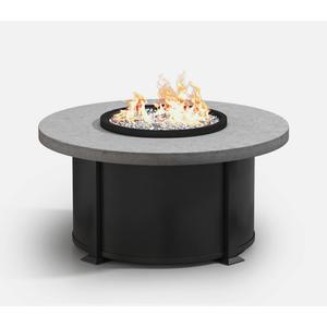 """42"""" Round Coffee Fire Pit Ht: 19"""" Valero Aluminum Base (Top Color: Drift Frame Finish: Onyx)"""