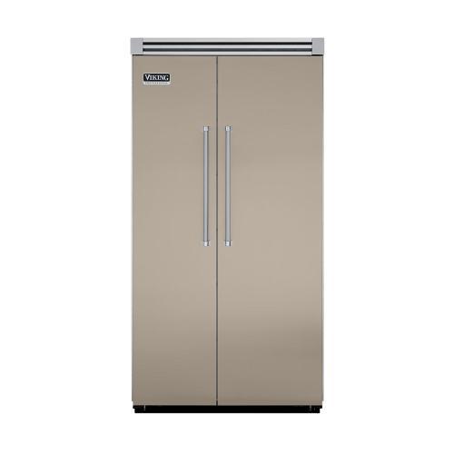 "Viking - Taupe 42"" Quiet Cool™ Side-by-Side Refrigerator/Freezer - VISB Tru-Flush™ (42"" wide)"