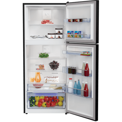 "Beko - 28"" Counter Depth Top Freezer Black Refrigerator"