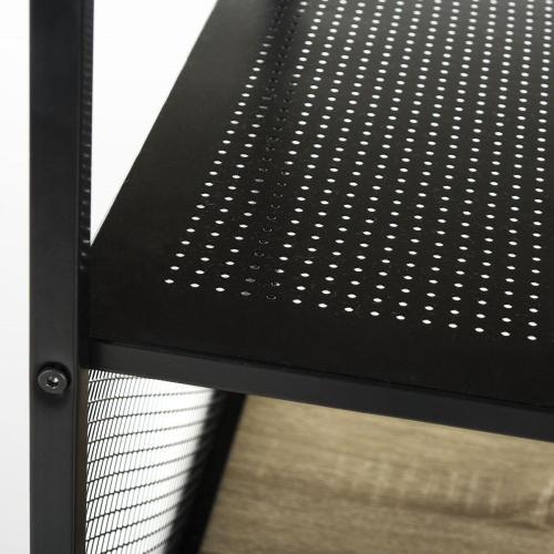 Aba 46 - Inch Width Corner Writing Desk W/ Storage - Black