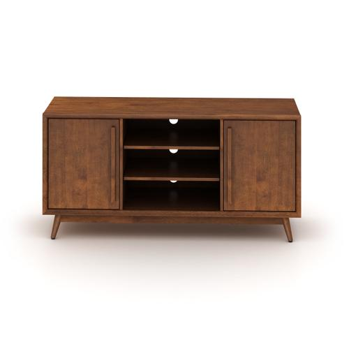 Bello - Twin Star Home™ Leawood TV Stand for TVs up to 60 inches, Mahogany Cherry