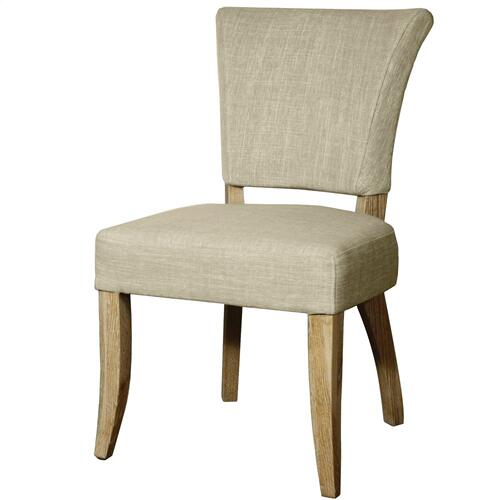 Austin Fabric Dining Side Chair, Rice