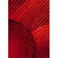 See Details - Soft Three Dimensional Polyester Viscose Hand Tufted 3D 309 Shag Area Rug by Rug Factory Plus - 2' x 3' / Red