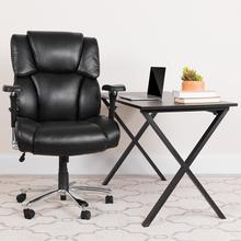 View Product - HERCULES Series 24\/7 Intensive Use Big & Tall 400 lb. Rated Black LeatherSoft Executive Lumbar Ergonomic Office Chair