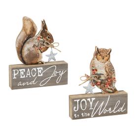 Woodland Christmas Shelf Signs (6 pc. ppk.)