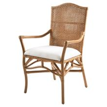 Lilou Rattan Arm Chair, Honey