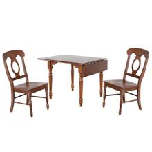 See Details - Drop Leaf Dining Set w/Napoleon Chairs - Chestnut (3 Piece)