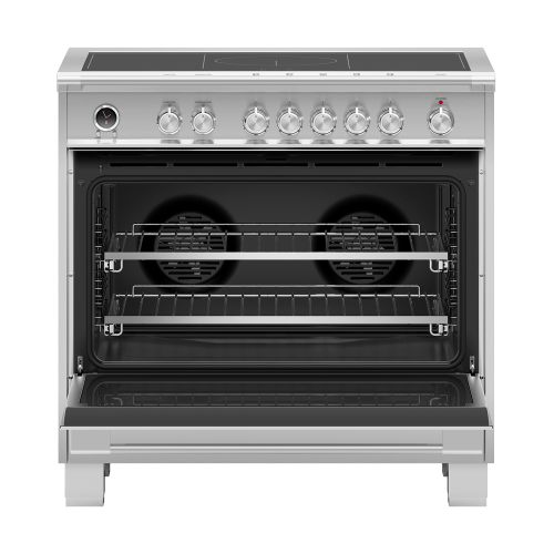 """Gallery - Induction Range, 36"""", 5 Zones with SmartZone, Self-cleaning"""