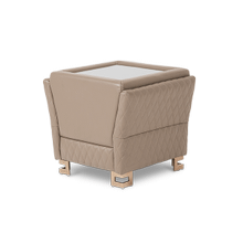 Monica Leather End Table Base in Taupe RoseGold
