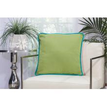 "Outdoor Pillows L1590 Green Coral 20"" X 20"" Throw Pillow"