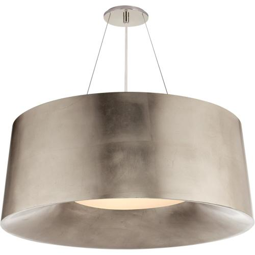 Visual Comfort BBL5090BSL Barbara Barry Halo 3 Light 28 inch Burnished Silver Leaf Hanging Shade Ceiling Light, Medium