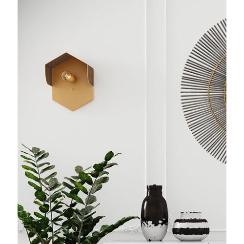 Mokhtar Tan Hexagon Wall Sconce