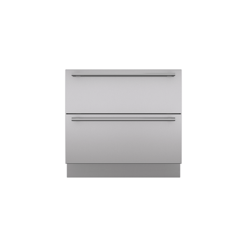 """Integrated Stainless Steel 36"""" Drawer Panels with Tubular Handles"""