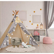 "Critter Sitters Plush Gray Pig Storage Animal Ottoman Furniture for Nursery, Bedroom, Playroom & Living Room Decor, 15"" Seat Height, , CSPIGSTOTT-LTGRY"
