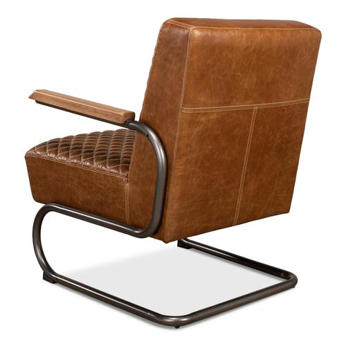 Beverly Hills Chair, Cuba Brown Leather