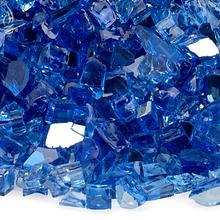 "See Details - 1/4"" Cobalt Reflective, 10 Lb. Jar Fire Glass"