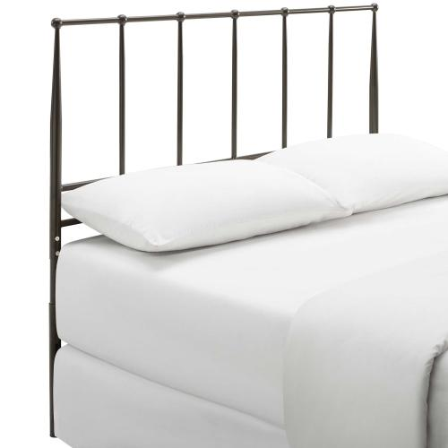 Kiana Full Metal Stainless Steel Headboard in Brown