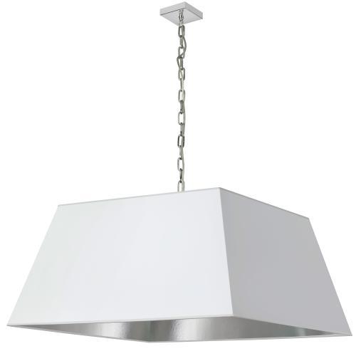 1lt Milano X-large Pendant, Wht/slv Shade, PC