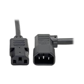 Heavy-Duty PDU Power Cord, C13 to Left-Angle C14 - 15A, 250V, 14 AWG, 6 ft. (1.83 m), Black