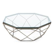 Faceted Octagonal Coffee Table