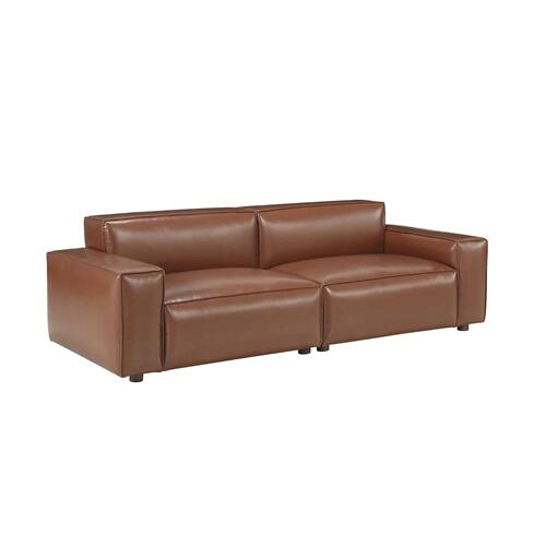 Olafur Upholstered 2-piece Modular Loveseat in Caramel by A.R.T. Furniture
