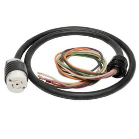 208V 3-Phase Whip in 10 ft length with L21-30R output for 3-Phase Distribution Cabinet Applications