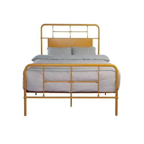 Emerald Home Fairfield Metal Bed Butterscotch B202-12hbfbrbrn