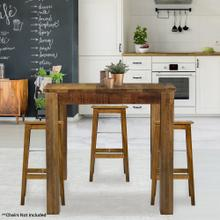 Hanover Ravenna Mango Wood Counter-Height Dining Table in Natural, 36-In. W x 36-In. D x 36-In. H, HDR003-NAT