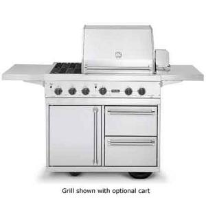 Vgbq4122rtlss In By Viking In Woodbury Nj Stainless Steel 41 Ultra Premium T Series Grill With Side Burners Vgbq 41 Wide With Two Standard 25 000 Btu Stainless Steel Burners And Double Side