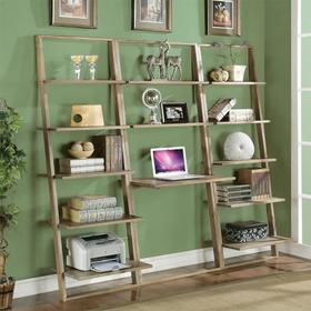 Lean Living - Leaning Desk - Smoky Driftwood Finish