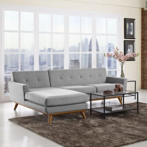 se Left-Facing Sectional Sofa in Expectation Gray