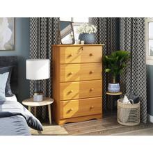 See Details - 5344 - Four Super-Jumbo Drawer Chest, Honey Pine