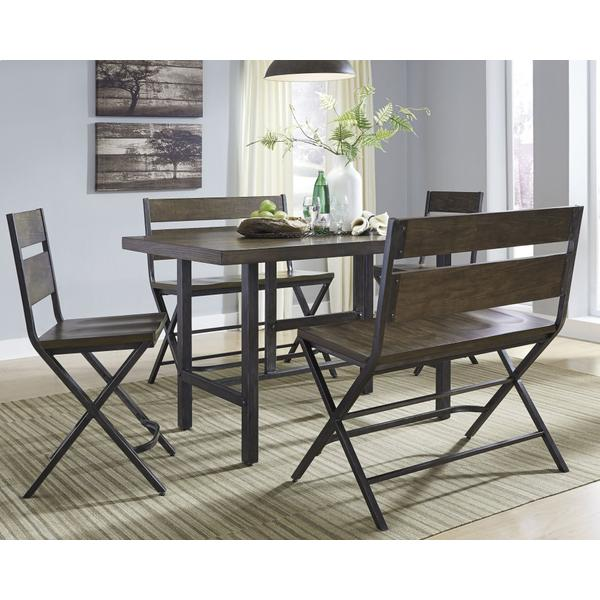 See Details - Counter Height Dining Table and 2 Barstools and 2 Benches