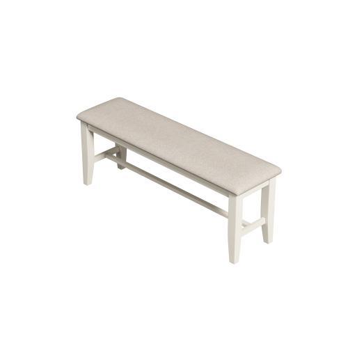 Buchanan Upholstered Bench, Whitewash 1147-313-ben