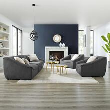 Comprise 5-Piece Living Room Set in Charcoal