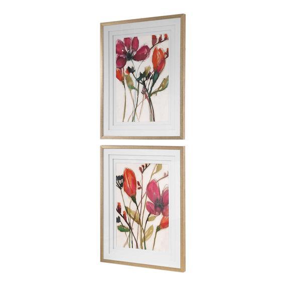 Vivid Arrangement Framed Prints, S/2