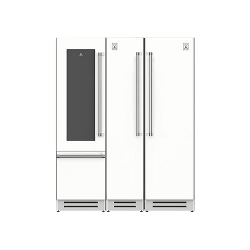 "Hestan - 66"" Wine Refrigerator (L), Column Freezer and Refrigerator ® Ensemble Refrigeration Suite - Froth"