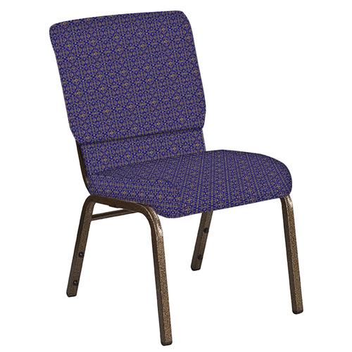 Flash Furniture - 18.5''W Church Chair in Abbey Jazz Fabric - Gold Vein Frame