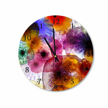 Colorful Mexican Bowls Round Square Acrylic Wall Clock