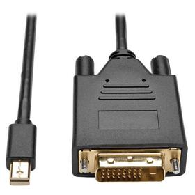 Mini DisplayPort 1.2 to DVI Adapter Cable, Active, M/M, 3 ft.