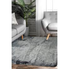7TH Ray Dip Dye Modern Faux Fur Area Rug by Rug Factory Plus - 2' x 3' / Gray White