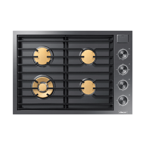 "30"" Gas Cooktop, Graphite Stainless Steel, Natural Gas"