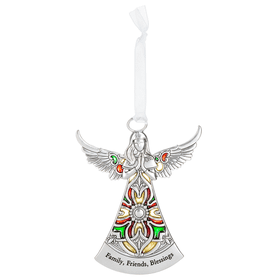 Angel Ornament - Family, Friends, Blessings